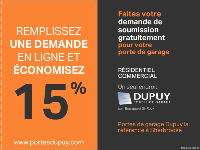 Portes De Garage Dupuy Sherbrooke Résidentiel Commercial